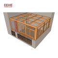 China Marketplace New Style Aluminium Glass House Sunroom Roof