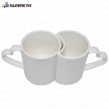 High Quanlity Bone China 11oz céramique sublimation couple tasse de couleur blanche
