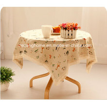 2014 Hot Sale Cotton and Linen Table Cloth