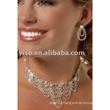 crystal waves rhinestone jewelry set