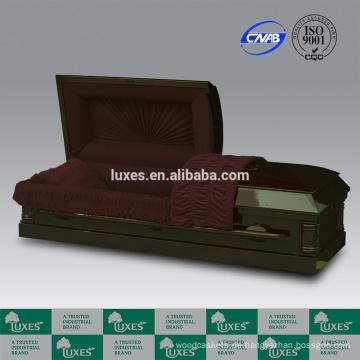 LUXES MDF furniert Sarg amerikanisches exquisit geschnitzte Schatullen für Beerdigung