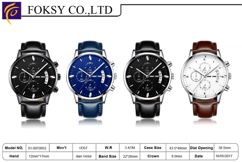polish chronograph watch japan movement wholesale
