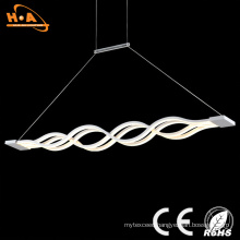 Beautiful Double Wave Shape Indoor LED Crystal Decorative Pendant Light