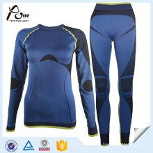 Venta al por mayor personalizadas Skins Seamless Base Layer Suit para las mujeres