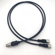 Conector tipo Y M12 a 2M12 com cabo de pvc