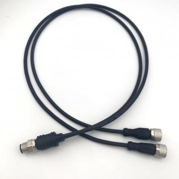 Conector tipo Y de M12 a 2M12 con cable de pvc