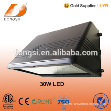 Full Cutoff LED exterior Wall Pack fixture with tempered glass lens