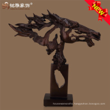 Abstract life size horse head sculpture polyresin material for showroom decoration