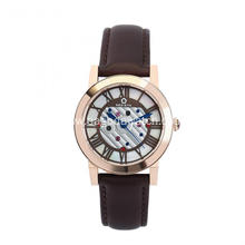 Womens leather strap quartz watches