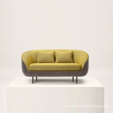 Good Quality for Types Of Sofa Material Fabric Armrest Fabric Futon Couch Two Seater Sofa export to Poland Factories