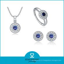 2016 самых популярных стерлингового серебра 925 ожерелье и серьги (Дж-0015)