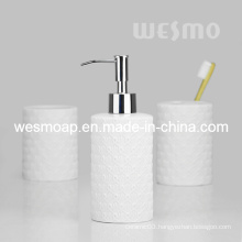 Embossment Porcelain Bathroom Set (WBC0812A)