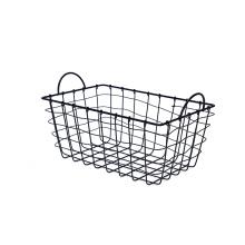 KINDOME Amazon Hot Sales Wire Grid Storage Basket with Handles