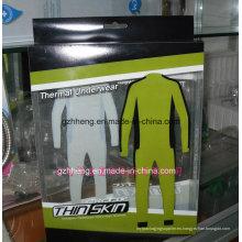 Caja plástica impresa de encargo para la ropa (empaquetado del regalo)