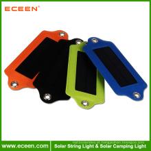 ECEEN portátil de cor branca LED ABS luz de acampamento solar luz de carregador de emergência