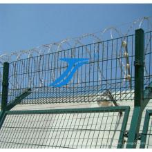 Valla de malla de alambre soldado con protección de alta seguridad