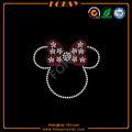 Cute Minnie Head HHS letter iron on crystal appliques