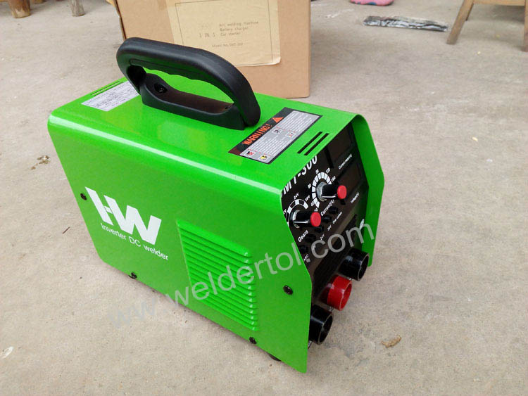 arc welder combined with battery charger and car starter