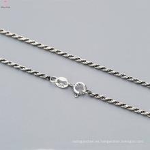 El último 925 collar de cadena de plata pura giro diseño