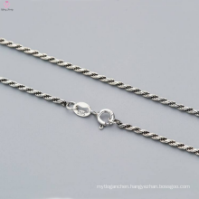Latest 925 Pure Silver Twist Chain Necklace Design