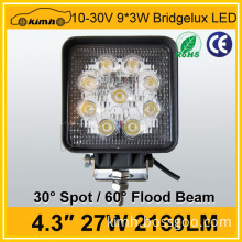 4.3inch 2160LM motorcycle accessories 27w led work light