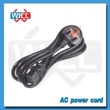 UK 3 Pin Plug TV Cordon d'alimentation avec fusible