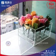 Fábrica de luxo romântico claro acrílico caixa de 9 rosas