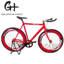 700c 70mm Wheelset Red Bullhorn Handlebar Aluminium Fixie Gear Bicycle