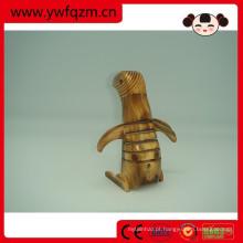casa decoração mão de madeira esculpida animal pinguim