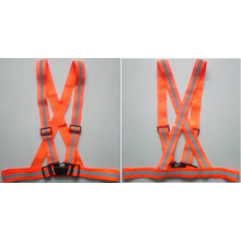 Orange reflective safety belt