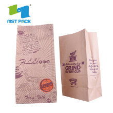 Bolsa de papel inferior mate Ziplock mate modificado para requisitos particulares de la categoría alimenticia