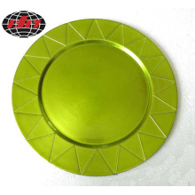 Green Festival Plastic Plate with Metallic