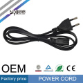 SIPU high speed PC wholesale AC power cable electric wire computer cable 2pin EU power cord