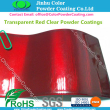Transparent Red Clear Pulverlackering