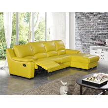 Sofá moderno de cuero de los muebles de la sala de estar