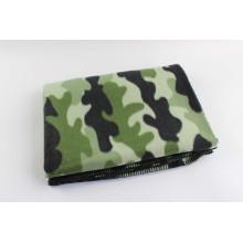 100% полиэстер с печатным одеялом из флиса с камуфляжем / пикником