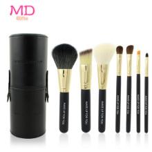 PRO 7PCS Blacktubular Foundation Makeup Brush Set (TOOL-184)
