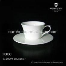 Restaurant weiße Töpferei Kaffeetasse für Bankett