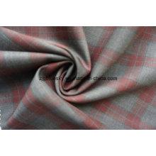 Tecido de lã para o terno com verificação vermelha