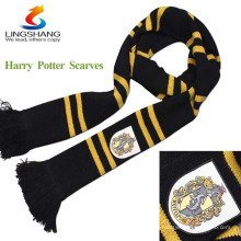 New unisex moda estilo Harry Potter Magic House Knitting Stripe Scarf Cosplay