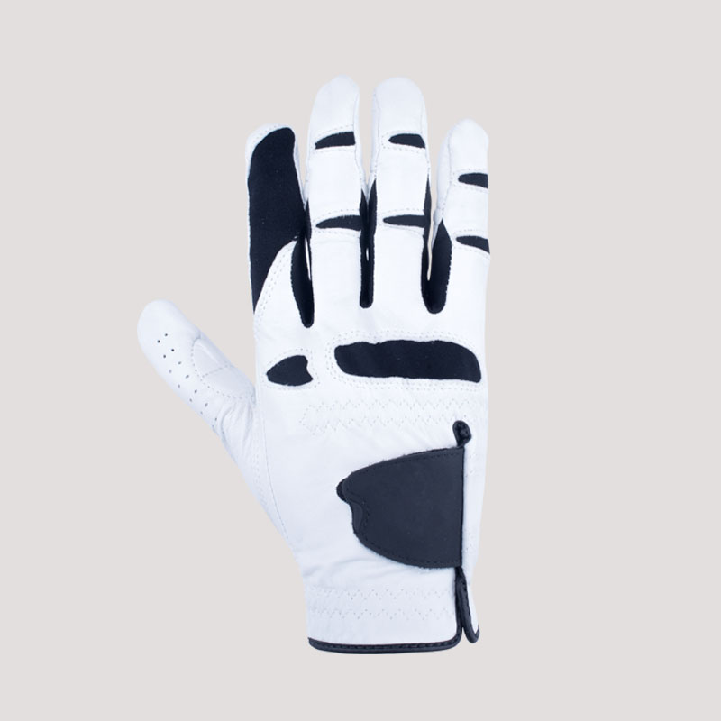 White and Black Golf Gloves