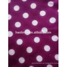 Tecido da flanela do algodão dos pontos no estoque para a venda