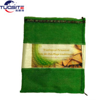 "100% virgin PP with 2% UV green 20""x24"" firewood mesh bag"
