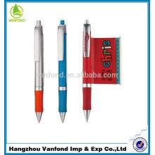 Top vente stylo bannière annonce en plastique avec logo