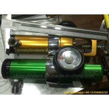 "Cga870 Pin Index O2 Regulator 6"" Golden Color (0-15 LPM)"