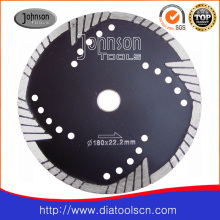 180mm Sintered Turbo Saw Blade for Cutting Granite