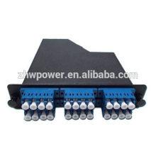 Caja de distribución de fibra óptica con lc upc duplex a mpo 12 cable de conexión de núcleo