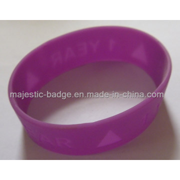 Soft PVC Rose Red Sport Bracelet
