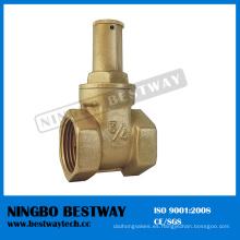 Válvula de compuerta de latón estándar con alta calidad (BW-G10)