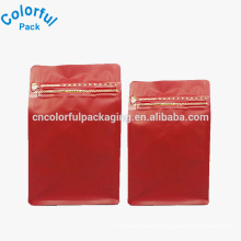 Custom print plain round bottom plastic ziplock coffee bag with valve